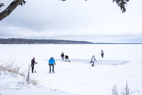 skating on the lake